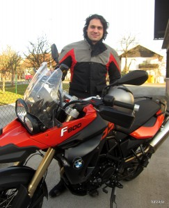 Georgije in njegov BMW F 800 GS
