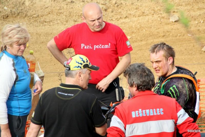Žiga je zaradi bolečin v predelu trebuha predčasno zaključil z dirko.