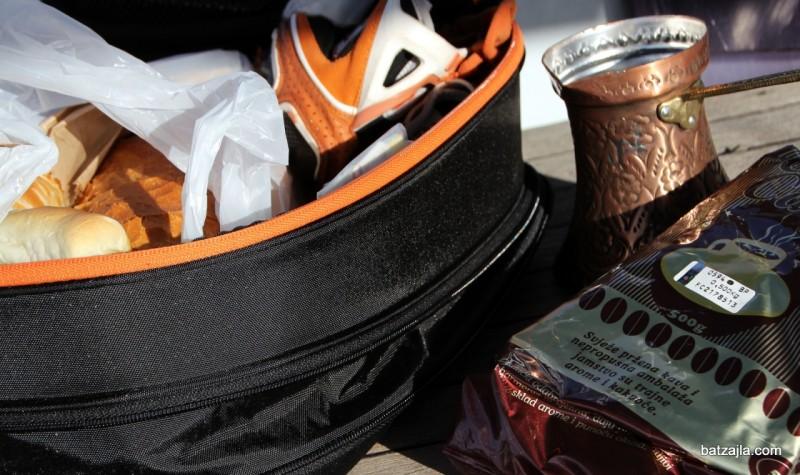 Raztegljiva mehka torba je super, ampak premajhna za slanike.